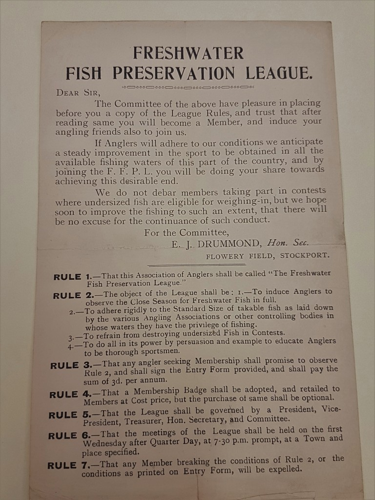 Minutes of the first meeting of the Freshwater Fish Preservation League